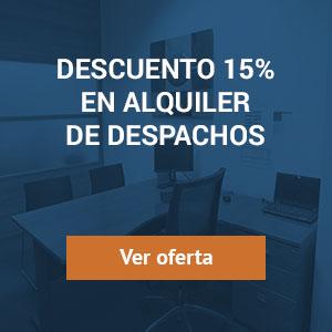 Descuento 15% en alquiler de despachos